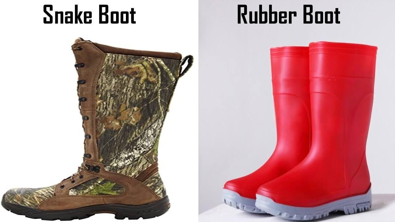 Snake boots vs rubber boots