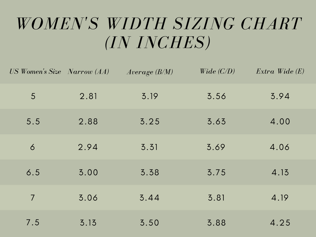 Womens feet width size.1